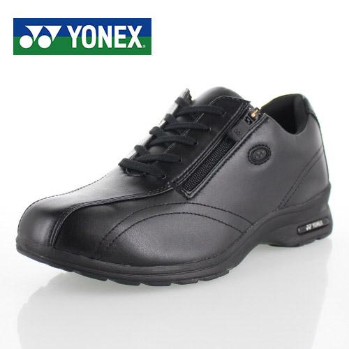 ヨネックス パワークッション レディース ウォーキングシューズ YONEX SHW-LC30W BLACK 黒 スニーカー カジュアル 軽量 女性用 靴 幅広 4.5E