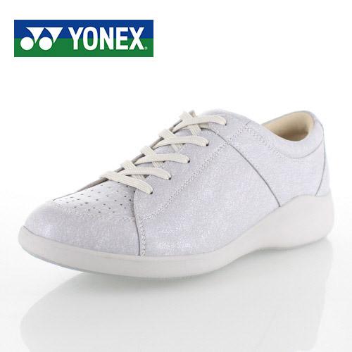 ヨネックス パワークッション レディース ウォーキングシューズ YONEX SHW-LC87 SILVER スニーカー カジュアル シルバー 軽量 女性用 靴 3.5E