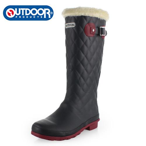 OUTDOOR PRODUCTS アウトドアプロダクツ レディース 長靴 ODB 0580-CH レインブーツ ラバーブーツ 軽量 あったか ブラック 058