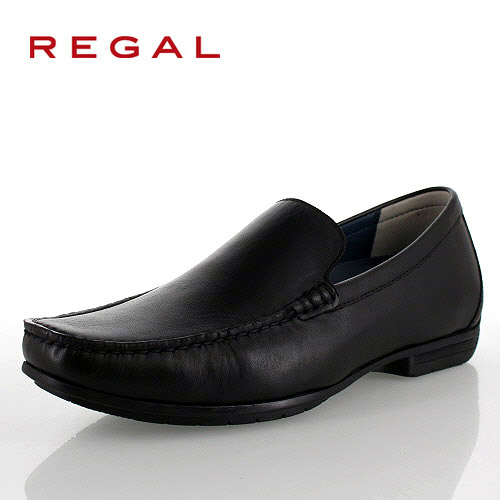 【エントリーでP5倍 4/9 20:00-4/16 1:59】 リーガル 靴 メンズ REGAL 56HRAF-B ブラック カジュアルシューズ ヴァンプ スリッポン 2E 本革 紳士靴 特典B