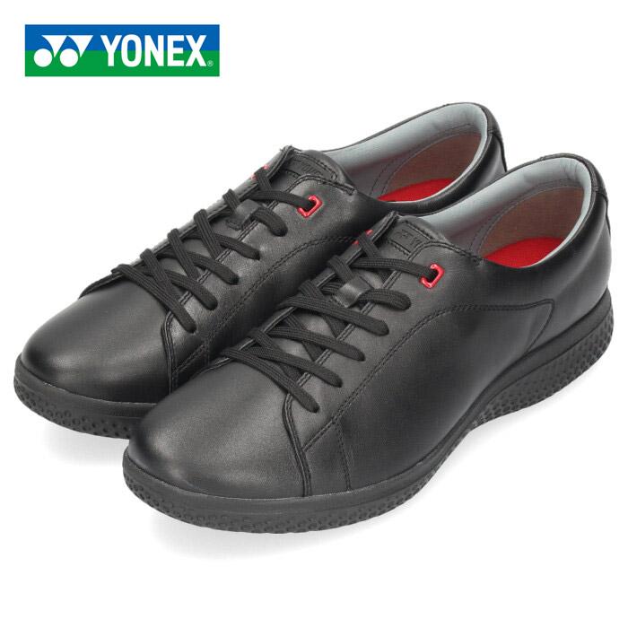 ヨネックス パワークッション 107 メンズ レディース ウォーキングシューズ YONEX SHW107 ブラック スニーカー レザー 靴 3.5E