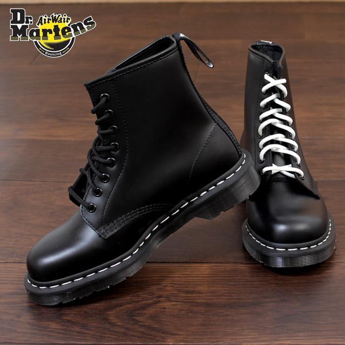 ドクターマーチン Dr.Martens 1460 WS ブーツ 8ホール 靴 24758001 黒 ホワイトステッチ レディース メンズ ユニセックス 8EYE