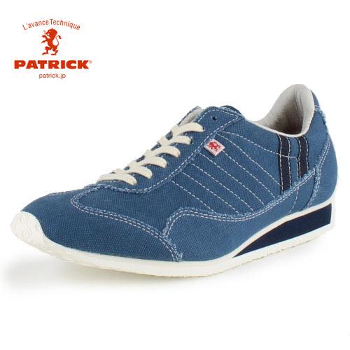 PATRICK パトリック W-STADIUM BLU ウォッシュ・スタジアム BLU 528322 BU05-28322 メンズ レディース スニーカー 日本製 ブルー