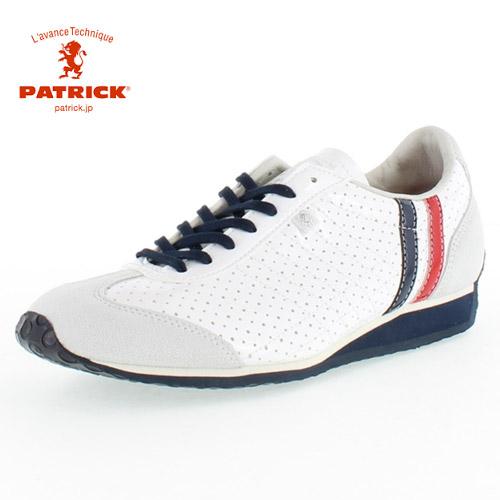 PATRICK パトリック IRIS-PU TRC アイリスパンチング トリコロール TRTC-28360 メンズ レディース スニーカー 日本製 ホワイト
