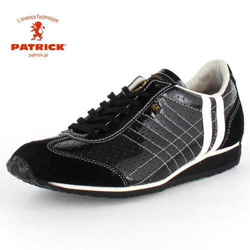 PATRICK パトリック IRIS-PU BLK アイリスパンチング ブラック BK01-28361 メンズ レディース スニーカー 日本製 ブラック