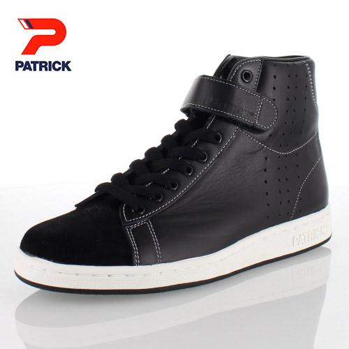 PATRICK パトリック JUFFRE BLK ジュフレ 528531 01-28531 メンズ レディース スニーカー ブラック ベルクロ ステアレザー 日本製