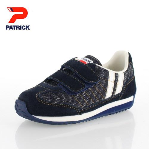 パトリック マラソン ベルクロ キッズ スニーカー PATRICK MARA-V D IDG EN7182 インディゴ デニム 日本製 靴 子供靴