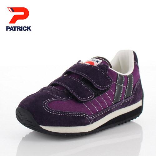 パトリック キッズ スニーカー マラソン-V EN7869 PATRICK MARATHON-V ベルクロ PMT パープル 紫 子供 通園 通学 ギフト