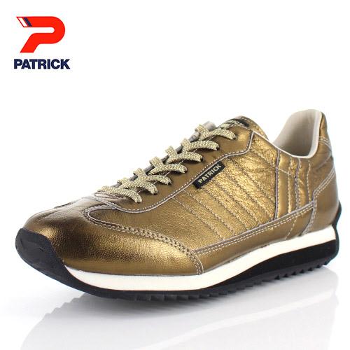 パトリック スニーカー グリスター マラソン PATRICK GLISTER-M GLD 530595 ゴールド メンズ レディース 靴 本革 日本製