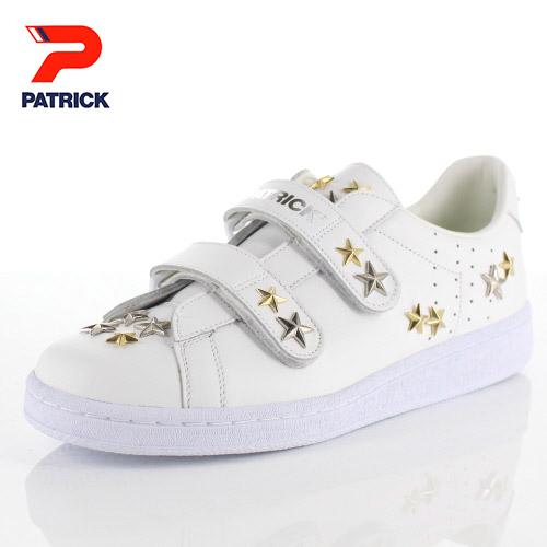 【エントリーでP5倍 4/9 20:00-4/16 1:59】 パトリック スニーカー オーシャン スタッズ スター PATRICK OCEAN ST STAR 530560 ホワイト メンズ レディース 靴 日本製