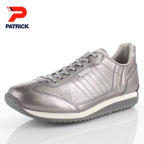 【エントリーでP5倍 4/9 20:00-4/16 1:59】 パトリック スニーカー グリスター マラソン PATRICK GLISTER-M SLV 530594 シルバー メンズ レディース 靴 本革 日本製