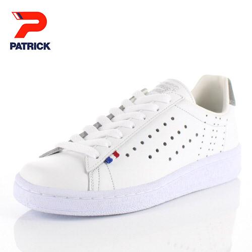 【エントリーでP5倍 4/9 20:00-4/16 1:59】 パトリック スニーカー ケベック PATRICK QUEBEC V-GRY 113064 ホワイト グレー メンズ レディース 靴 日本製 レザースニーカー