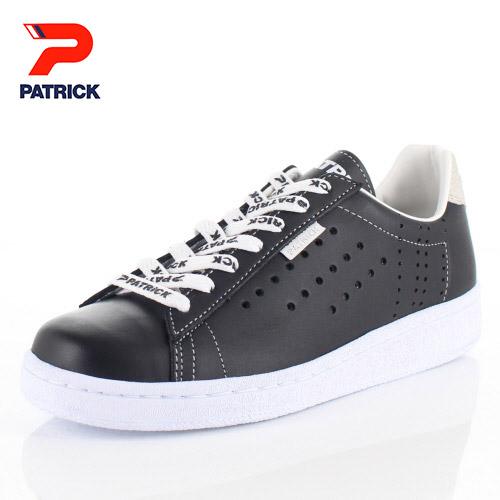 【エントリーでP5倍 4/9 20:00-4/16 1:59】 パトリック スニーカー ケベック ロゴ PATRICK QUEBEC-LG BLK 531061 ブラック メンズ レディース 靴 日本製 レザースニーカー