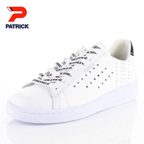 パトリック スニーカー ケベック ロゴ PATRICK QUEBEC-LG WHT 531060 ホワイト メンズ レディース 靴 日本製 レザースニーカー