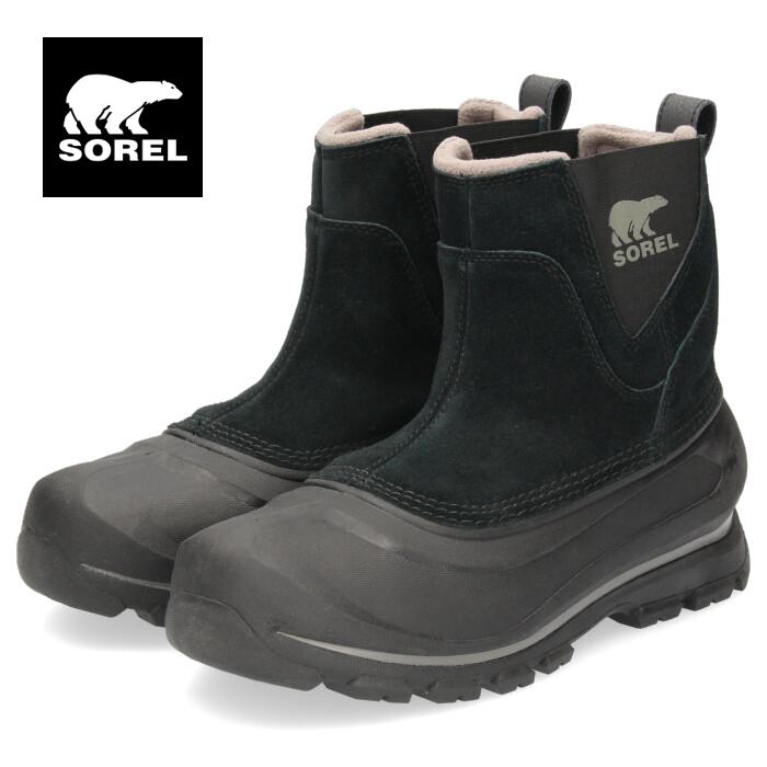 ソレル SOREL NM2738 010 メンズ ブーツ バクストンプルオン ブラック 防水 保湿性 防寒 防滑