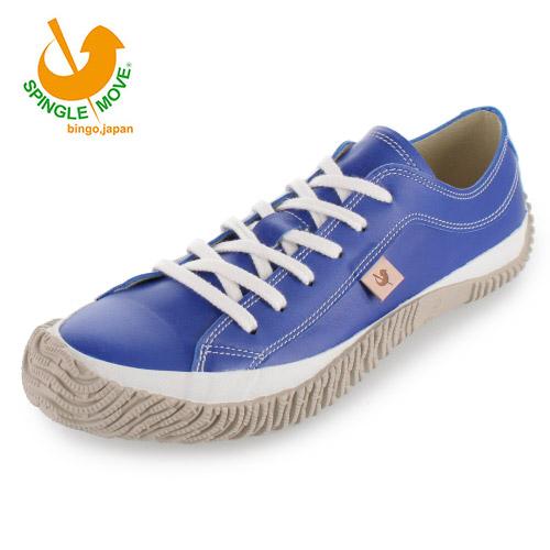 スピングルムーブ SPINGLE MOVE SPM-110(2) Blue ブルー レディース メンズ スニーカー 靴 カンガルー レザー 日本製