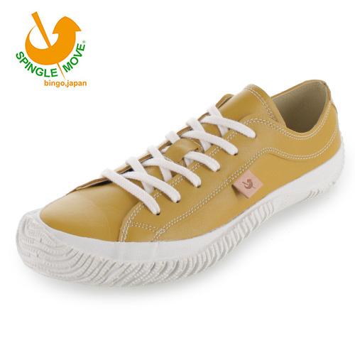 【エントリーでP5倍 4/9 20:00-4/16 1:59】 スピングルムーブ SPINGLE MOVE SPM-110(2) Mustard マスタード レディース メンズ スニーカー 靴 カンガルー レザー 日本製