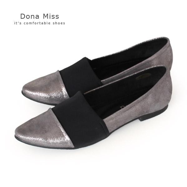 フラットシューズ Dona Miss ドナミス 1322 本革 ぺたんこ パンプス ストレッチ シューズ レディース 靴