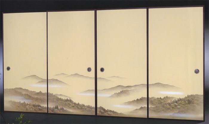 ふすま紙 幅広  4枚柄織物ふすま紙 RP-1609 巾120cm