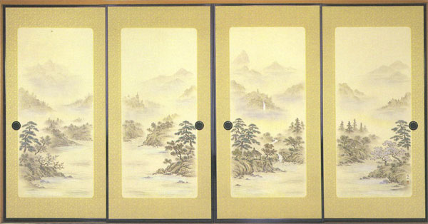襖紙 4枚組 織物ふすま紙 4枚柄 P-1617