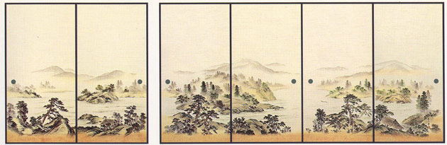 ふすま紙 6枚柄織物襖紙 U-9012