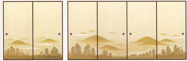 ふすま紙 6枚柄織物襖紙 U-9006