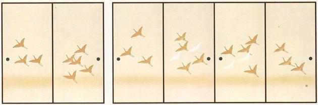 ふすま紙 6枚柄織物襖紙 U-9004