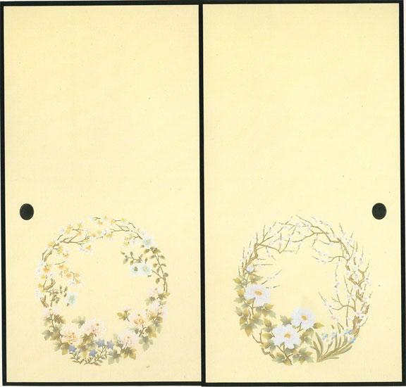 高級織物ふすま紙 S-927
