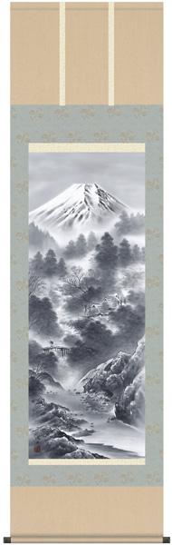 富嶽情景 掛軸