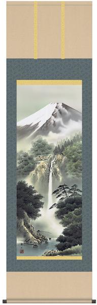 富士龍瀑 掛軸