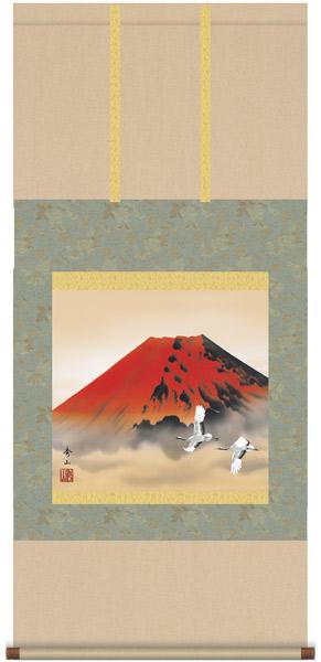 赤富士飛翔 掛軸