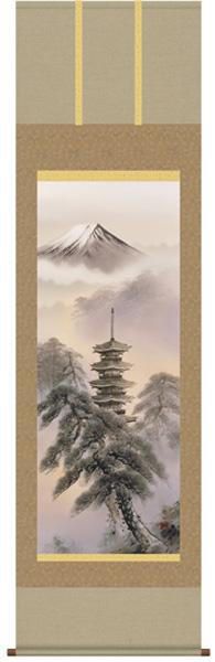 富岳塔景 掛け軸