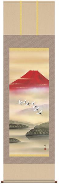 赤富士飛翔 掛け軸