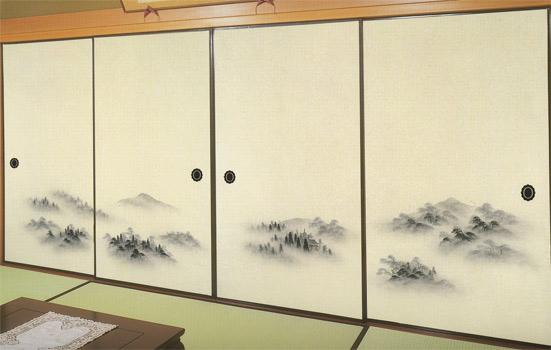 幅広 4枚柄和紙ふすま紙 RFSR-801