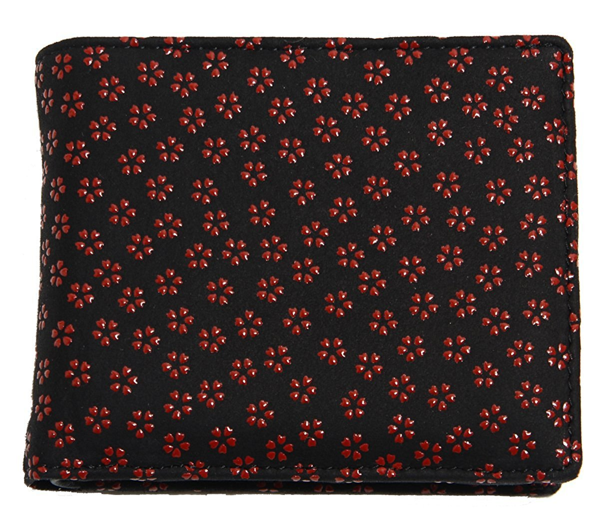 財布 二つ折り 印伝 メンズ レディース 鹿革 桜 サヤ 牡丹 猫 とんぼ 赤 白 黄