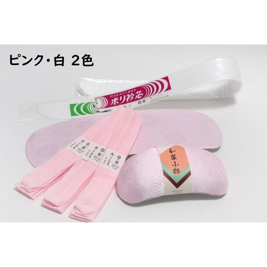 手軽に揃う 日本製 新色追加して再販 初心者 帯枕 前板 定番キャンバス 衿芯 腰紐 着付けセット 着物着付け