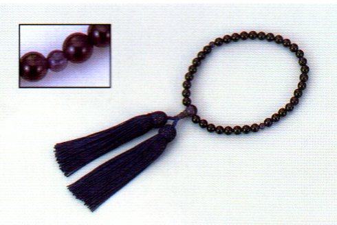 念珠 女性用片手 紫水晶 数珠 仏具