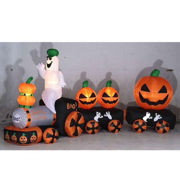 送料無料 エアーディスプレイ ハロウィントレイン3車両 Halloween おばけ かぼちゃ カボチャ ゴースト パンプキン モンスター ホラー ナイト ジャックオランタン 室内仕様 10月 秋 夜 仮装 お祭り 電車 機関車 子ども