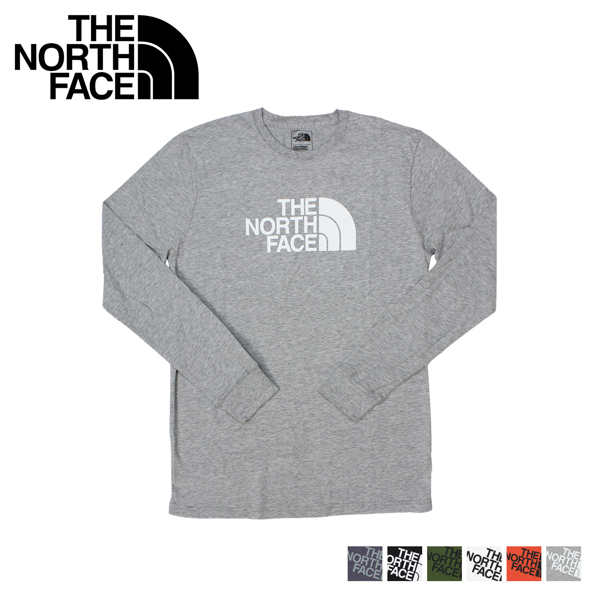 89fbf69a0 THE NORTH FACE north face T shirt Ron T long sleeve MEN'S LONG-SLEEVE HALF  DOME TEE men