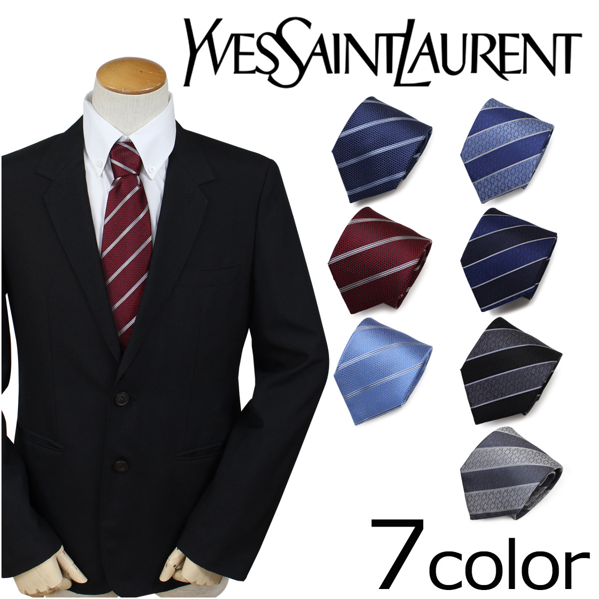 8bb6bc390ac Business wedding ceremony men made in France with Eve Saint-Laurent tie  silk Yves Saint ...