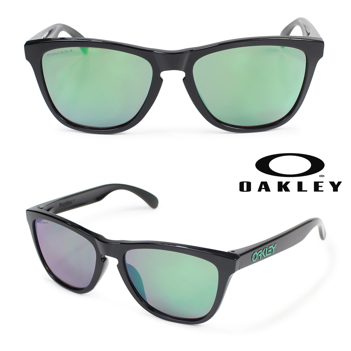 Oakley ASIA FIT サングラス アジアンフィット オークリー Frogskins フロッグスキン OO9245-6454 ブラック メンズ レディース