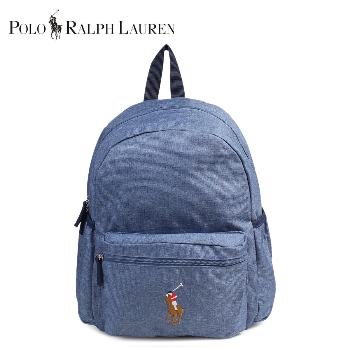 36984aeb0 Ralph Lauren rucksack bag backpack kids big pony POLO RALPH LAUREN polo  blue  7  ...
