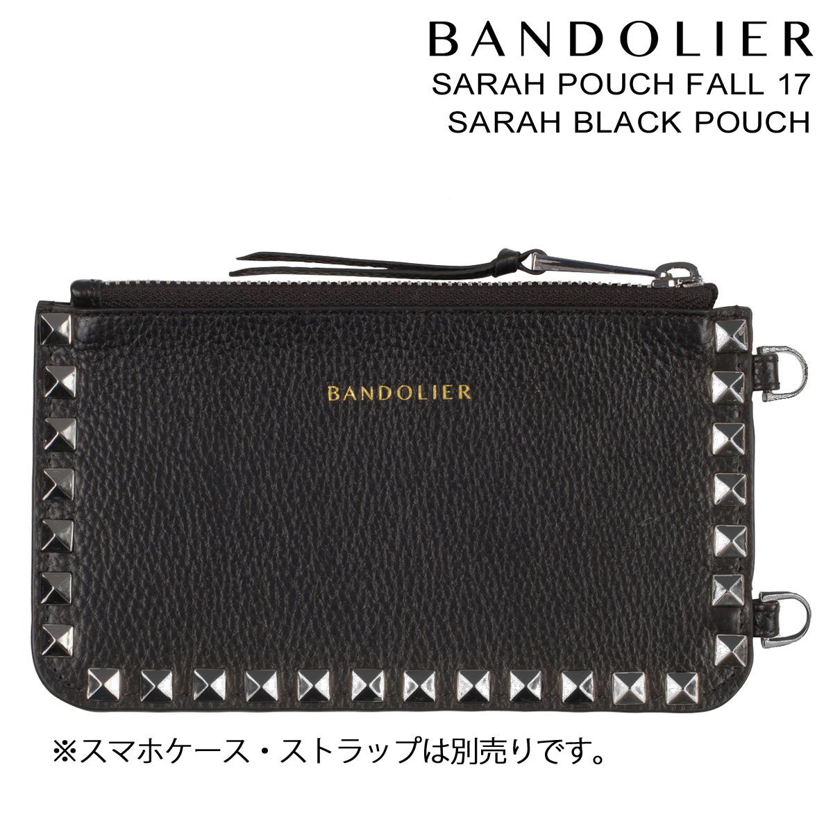 BANDOLIER SARAH POUCH バンドリヤー ポーチ スマホ ケース FALL17 レザー メンズ レディース ブラック
