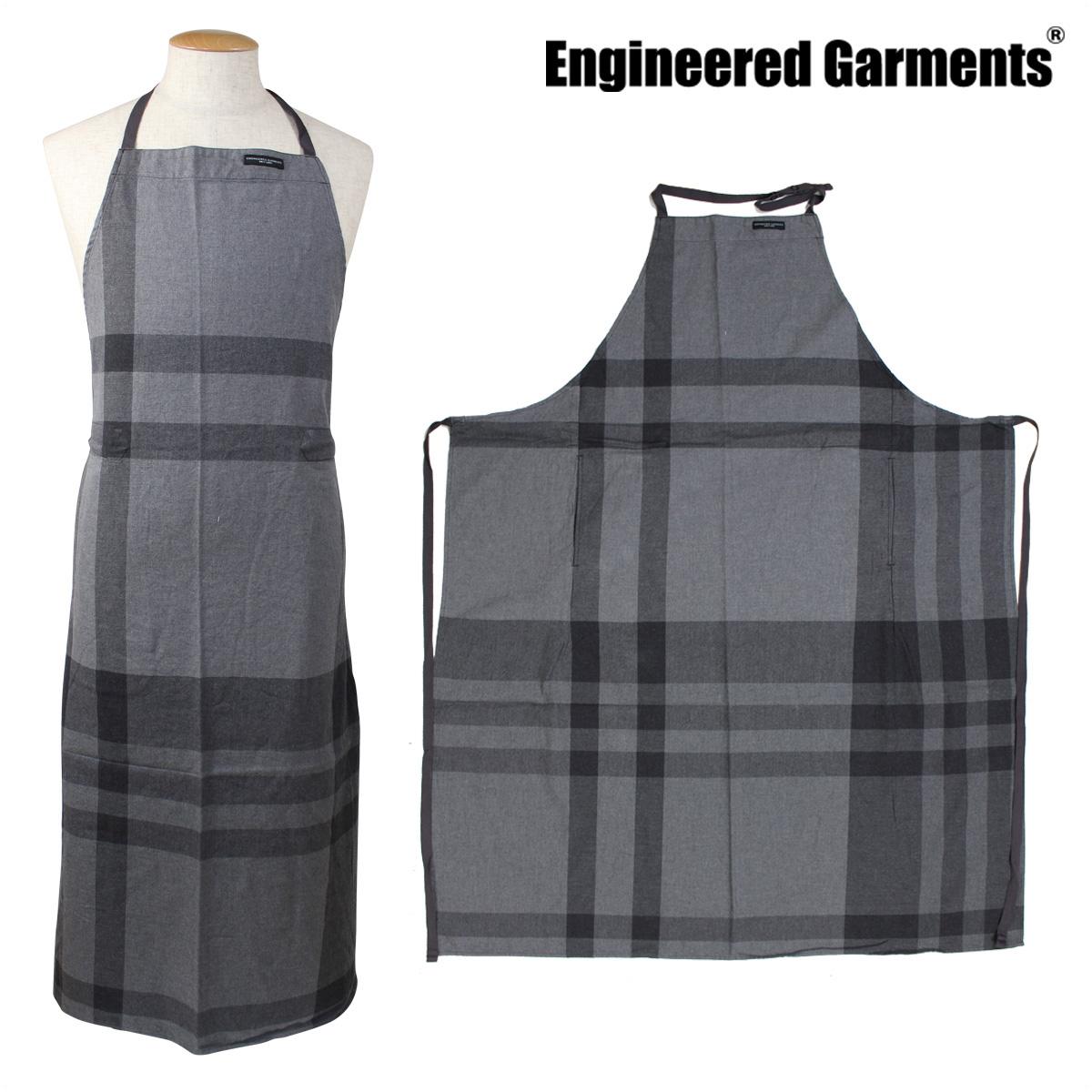 ENGINEERED GARMENTS NEW LONG APRON エンジニアードガーメンツ エプロン 大きいサイズ レディース メンズ 無地 ロング 丈 F7H0624 グレー