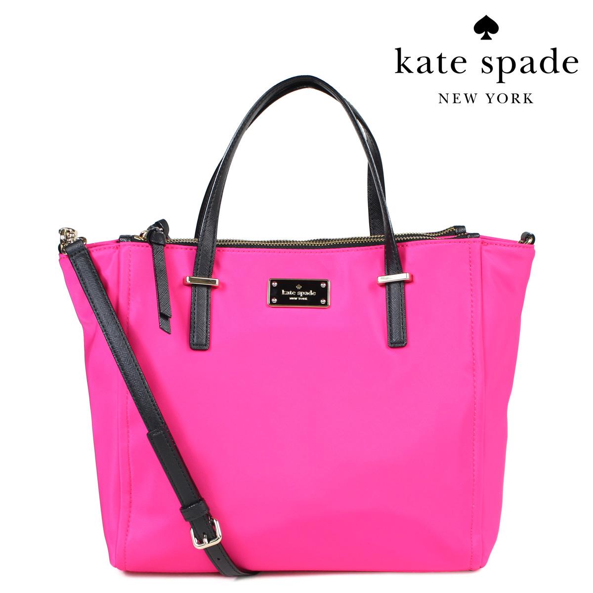 kate spade ALYSE ケイトスペード バッグ トートバッグ ナイロン WKRU4715 649 2WAY レディース ピンク