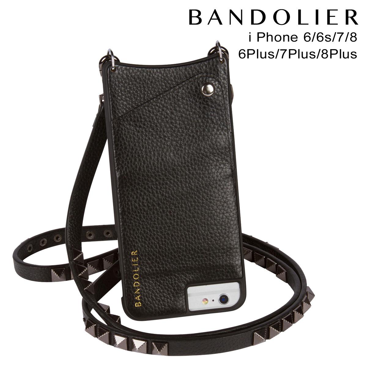 BANDOLIER JENNY PEWTER バンドリヤー iPhone8 iPhone7 7Plus 6s ケース スマホ アイフォン プラス レザー メンズ レディース ブラック