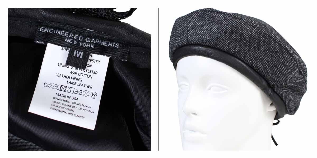 d05537161 ENGINEERED GARMENTS BERET engineered garfish face hat beret men gap Dis  F7H0849 gray [11/9 Shinnyu load]