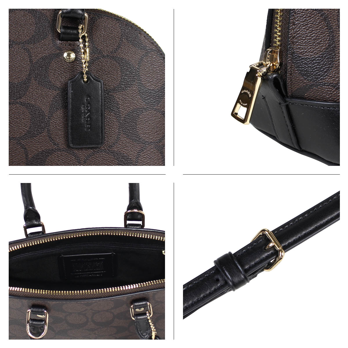 660705ca9e7bc ... inexpensive coach mini sierra satchel in signature coated canvas coach  bag shoulder bag ladys f59295 brown