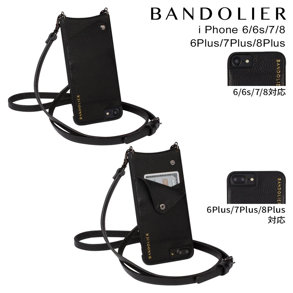 BANDOLIER EMMA バンドリヤー iPhone8 iPhone7 7Plus 6s ケース スマホ アイフォン プラス メンズ レディース レザー ブラック [3/18 再入荷]