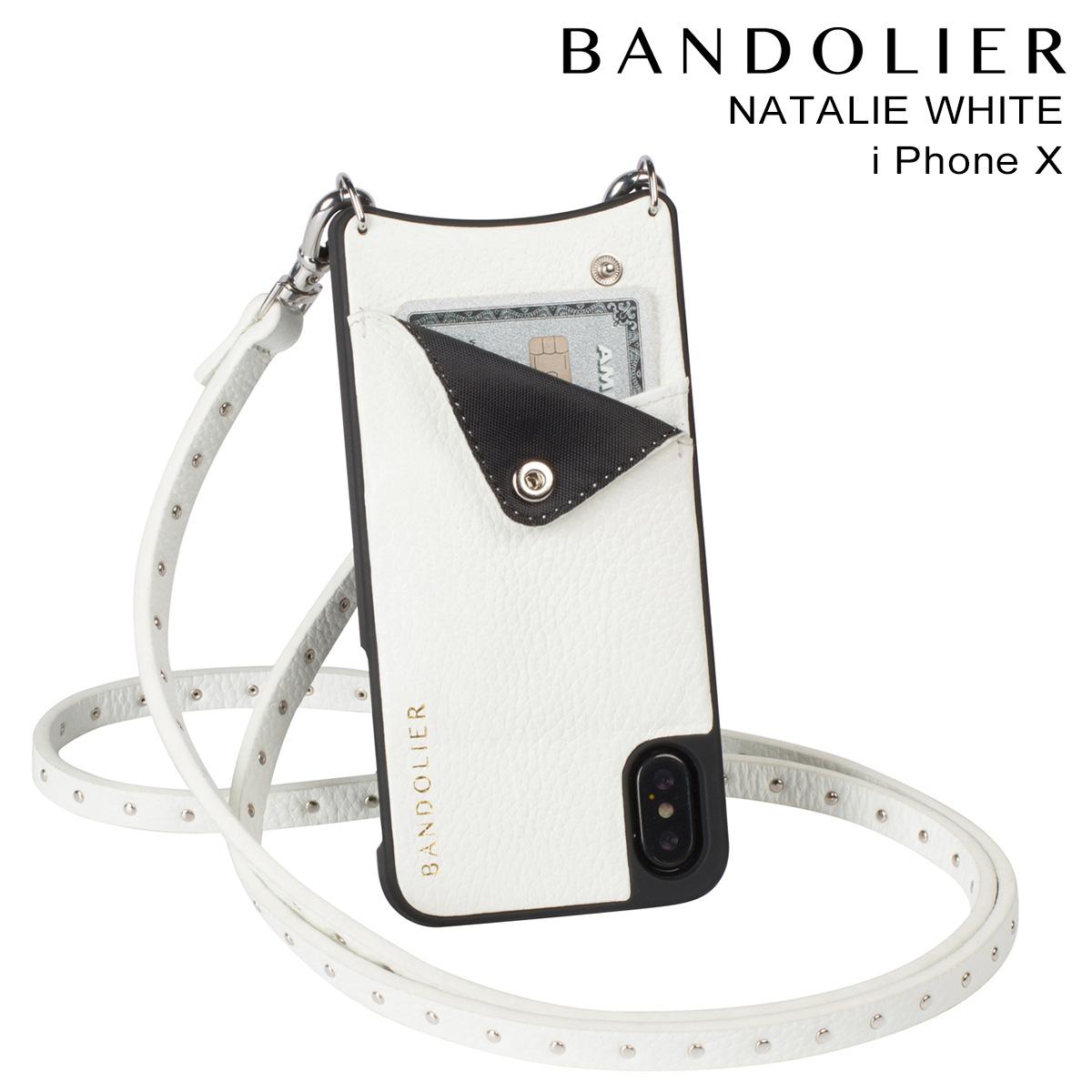 BANDOLIER NATALIE WHITE バンドリヤー iPhoneX ケース スマホ アイフォン レザー メンズ レディース [9/14 追加入荷]